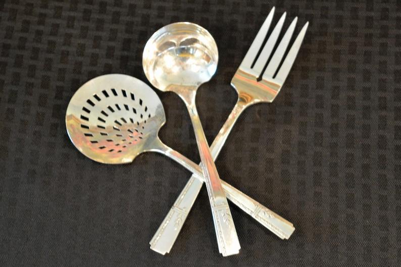 Vintage Set of 4 Prestige Plate GRENOBLE 1938 Grille Forks