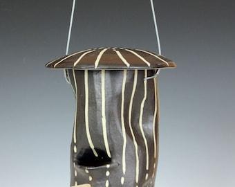 Dots & Dashes Ceramic Bird-feeder