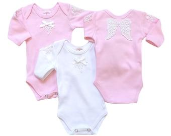 Preemie-Newborn Angel Wings Bodyshirt