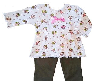 Preemie-Yums Fairy Print Top and Pant
