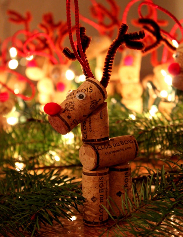 Wine Cork Reindeer Ornament Reindeer Ornament Christmas | Etsy