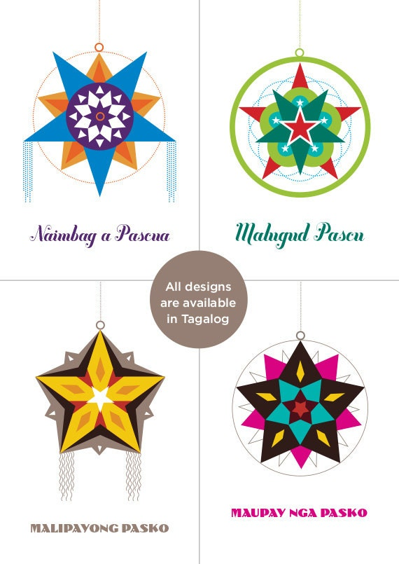 Choose 4 filipino parol christmas card select from etsy image 0 m4hsunfo