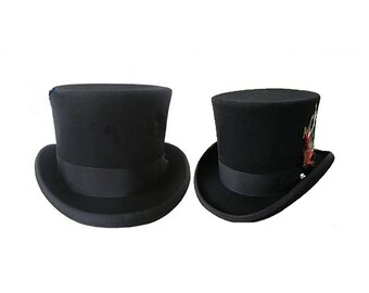 3bf7cbdcc1b STTHBA - Black Wool Felt Top Hat in sizes 55-61cm circumference.