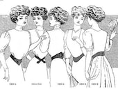 TVE55 - 1901-1909 Edwardian Dip-Waist Belts Sewing Pattern by Truly Victorian
