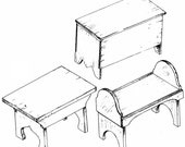 SF501 - 18th Century Camp Furniture Plans by Smoke Fire