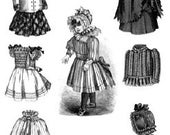 AG1382 - 1891 Victorian Doll Wardrobe Pattern - Ageless Patterns