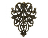 ABE016 - Vintage Victorian Styled Steampunk Filigree Ornate Door Knocker Embellishment in Antique Bronze Brass Finish