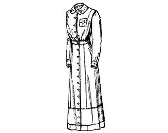 titanic era dress etsy Summer Picnic pac4416 1910 1911 semi princess dress for misses or small women pattern by past patterns