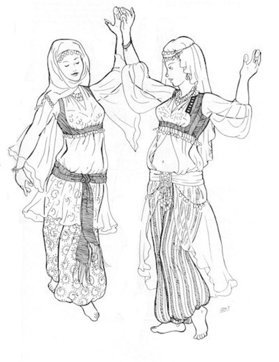 AF27 Bahigas Blouse Pattern Belly Dance Sewing Pattern by | Etsy
