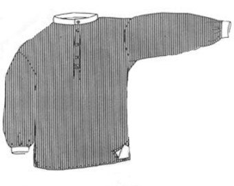 PI755 - 1800s Band Collar Shirt Sewing Pattern by Period Impressions