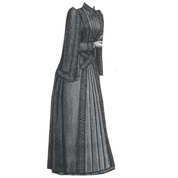 AG1795 1889-Mantel mit überhängenden Ärmel Nähen Muster von | Etsy