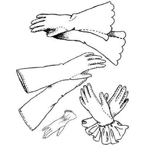 AY07 guantes de las mujeres patrón de costura por años de | Etsy