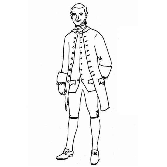 MF19 levita costura patrón 1770-85 hombre por patrones de | Etsy