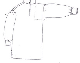 PI208  -  Boy's Late 18th Century Shirt Sewing Pattern by Period Impressions