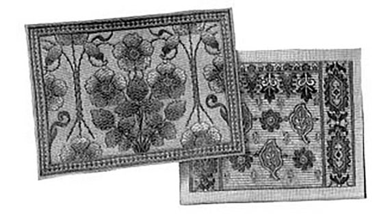 Ag1405 1902 Embroidery Designs For 2 Cushions By Ageless Patterns
