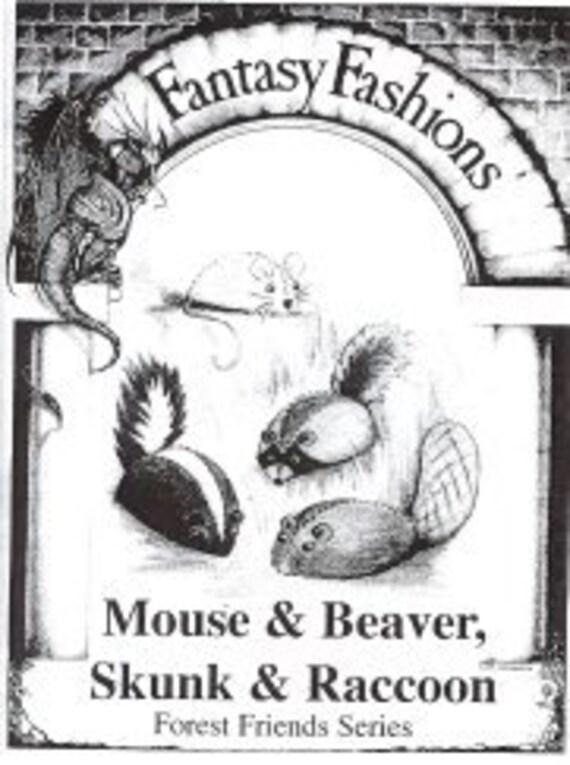 FFW03 proyectos de costura caprichosa ratón Castor Skunk