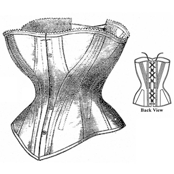 MM18701 1865-1880 Korsett Schnittmuster von Mantua Maker | Etsy