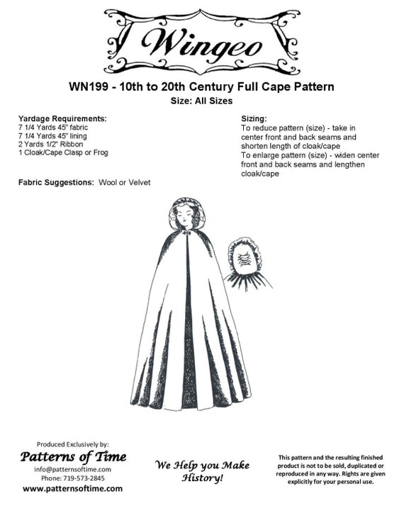 MRCapes Cape Collection Sewing Pattern by MoiRandall t