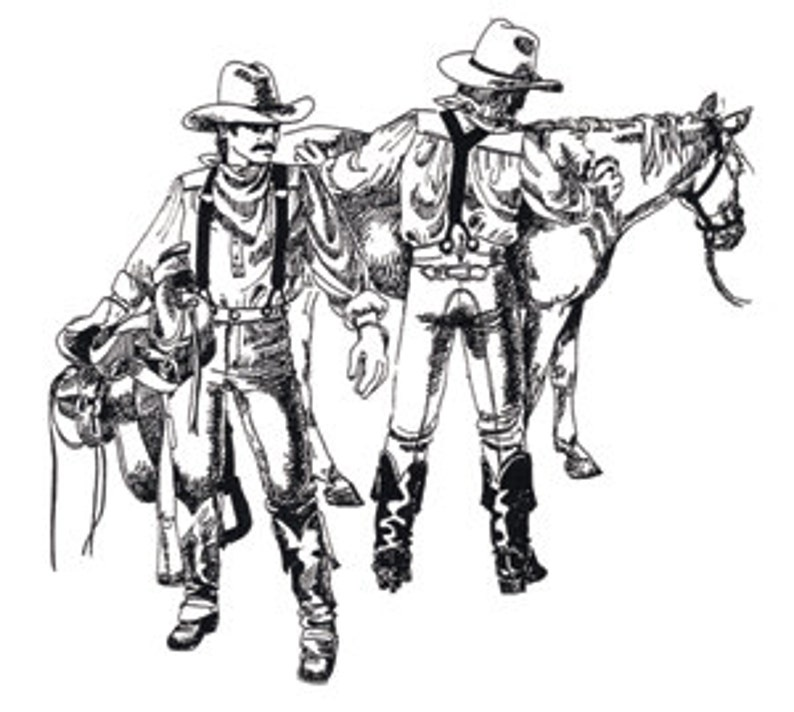 Men's Vintage Reproduction Sewing Patterns     BB18 - Western Britches Sewing Pattern by Buckaroo Bobbins $16.95 AT vintagedancer.com