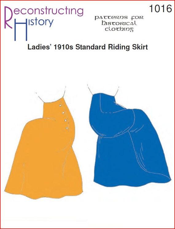 RC1016 1910er Jahre Standard Reiten Rock Schnittmuster | Etsy