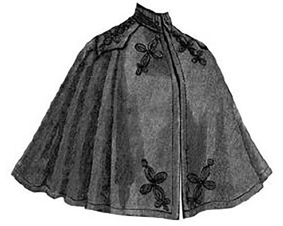AG1252 1896 Tuch Umhang mit Schnittmuster von zeitlosen | Etsy