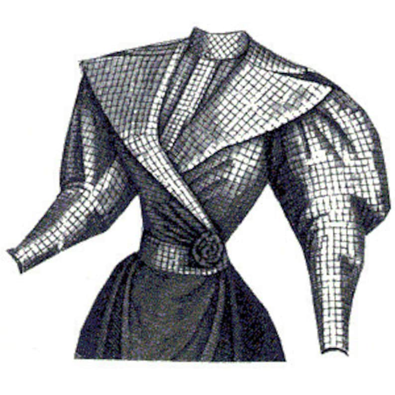 Victorian Blouses, Tops, Shirts, Vests, Sweaters     AG1874 - 1894 Checked Silk Waist Sewing Pattern by Ageless Patterns $14.88 AT vintagedancer.com