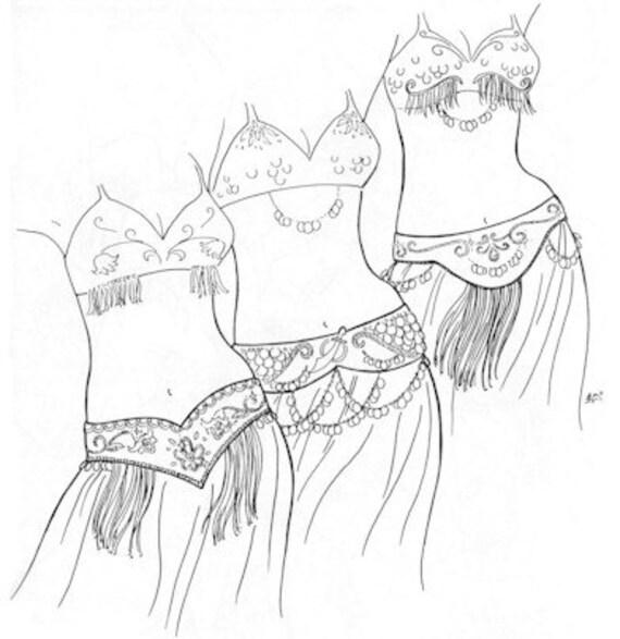 AF05 danza del vientre cinturones Alibeck de Tahia Belly | Etsy