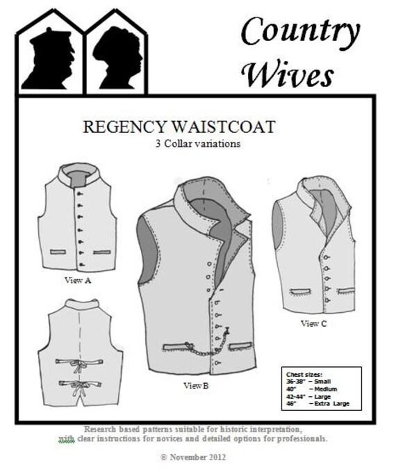 CWSSM05 1811-1820 s Männer Regentschaft Ära Weste mit 3 | Etsy
