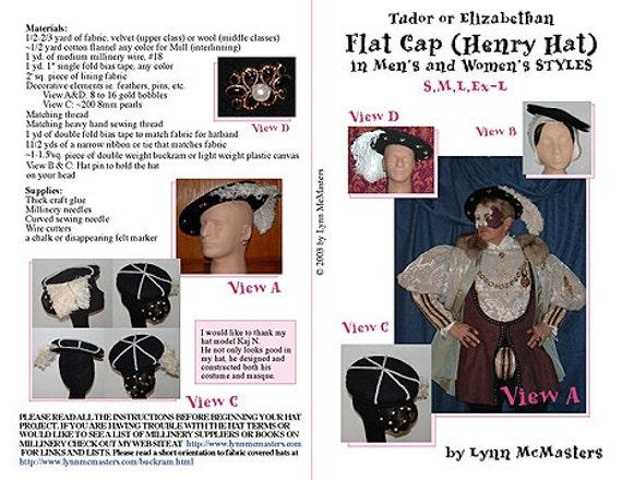 50ade3dfa50 MC12 Men s and Women s Tudor   Elizabethan Flat Caps
