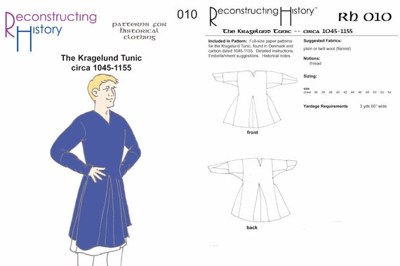 RC010 1045-1155 Kragelund Tunika Schnittmuster durch   Etsy