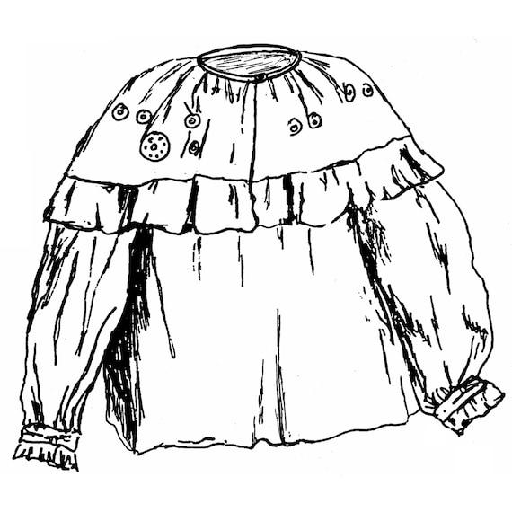 SF503 1780-1830 Waldland indischen Damen Bluse-Schnittmuster | Etsy