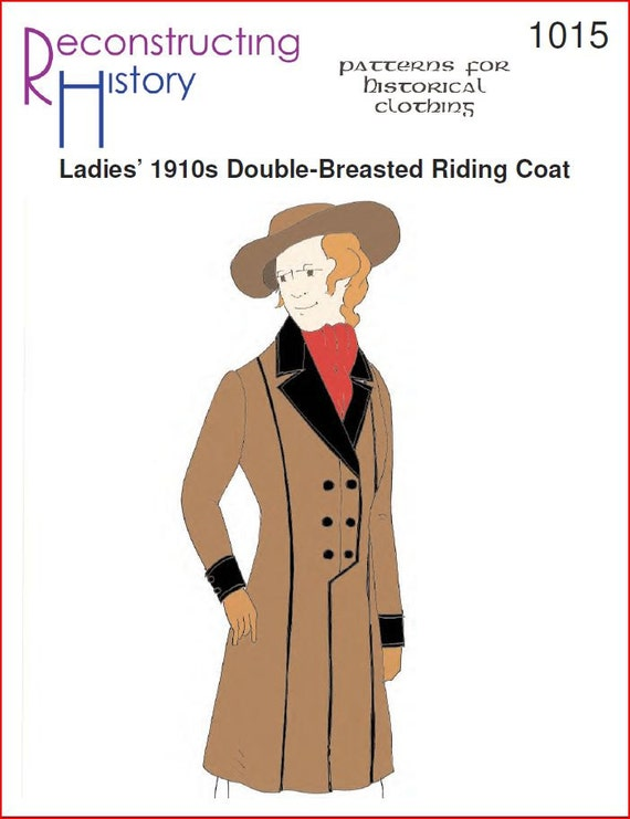 RC1015 hacia 1910 caballo cruzado chaqueta costura patrón | Etsy