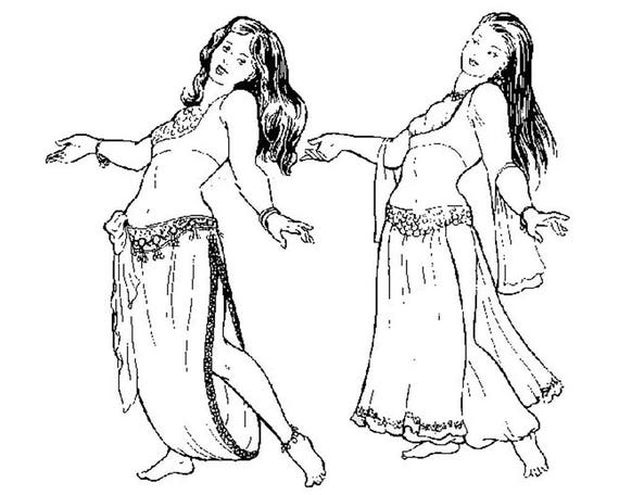 AF17 Sharreh\'s Skirts Belly Dance Sewing Pattern by