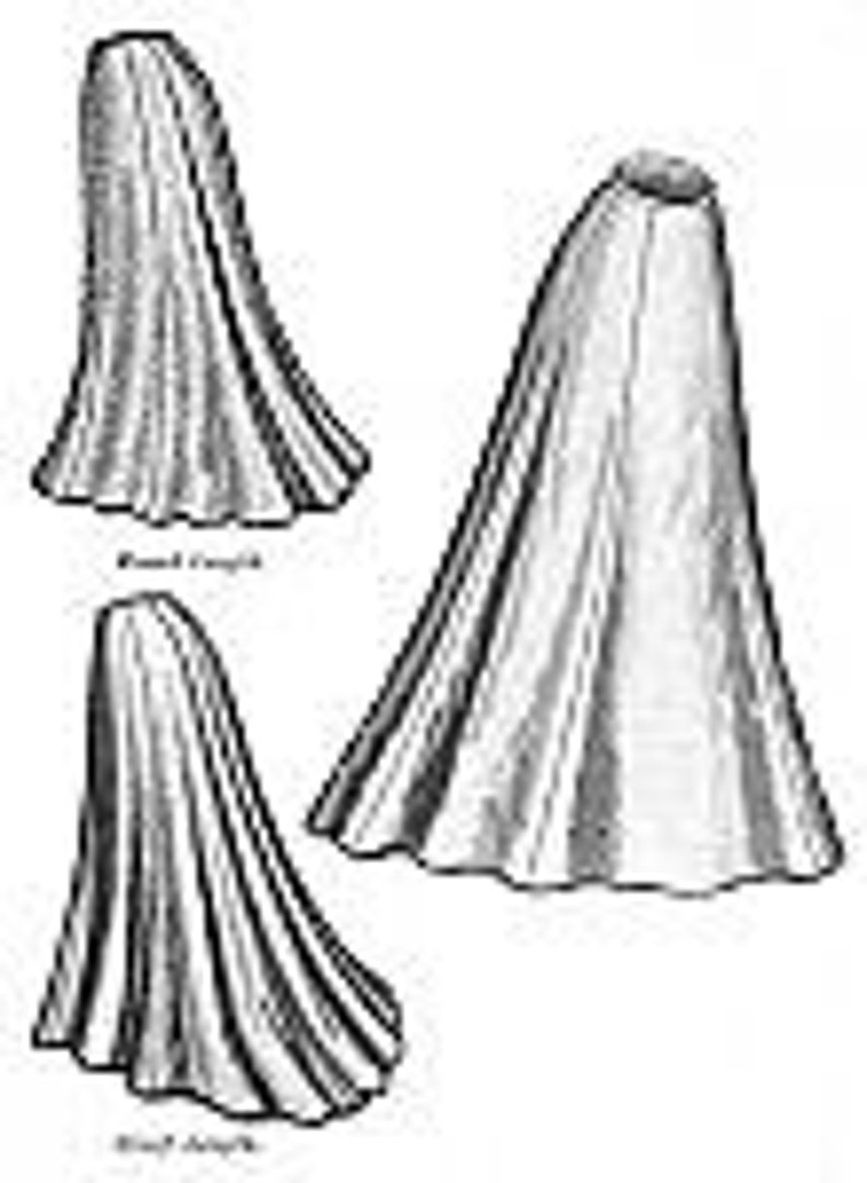 Edwardian Sewing Patterns- Dresses, Skirts, Blouses, Costumes TVE21 - 1903 Edwardian Era Trumpet Skirt Sewing Pattern by Truly Victorian $18.38 AT vintagedancer.com