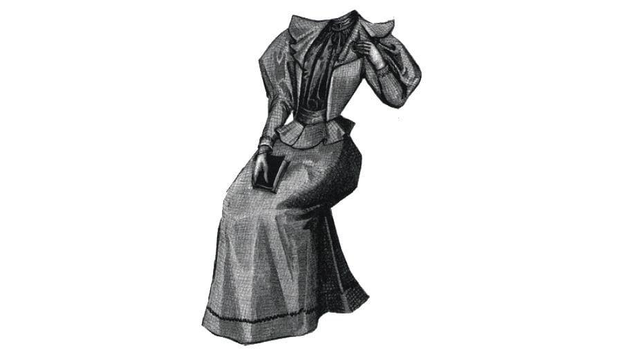 AG2107 Vestido de lana de 1894 comprobado para patrón de | Etsy
