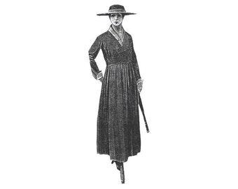 AG2072 - 1917 Maroon Wool Velvet Dress Pattern