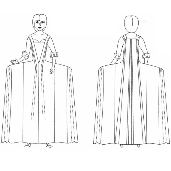 MM17007 1740-1780 Robe a la Francaise Schnittmuster von | Etsy