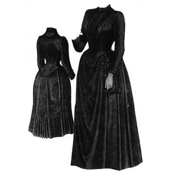AG1807 1889-Trauer-Kleid für ältere Dame Schnittmuster durch | Etsy