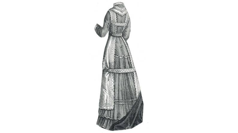 Victorian Edwardian Apron, Maid Costume & Patterns 1877 Percale Kitchen Apron Pattern by Ageless Patterns $7.25 AT vintagedancer.com