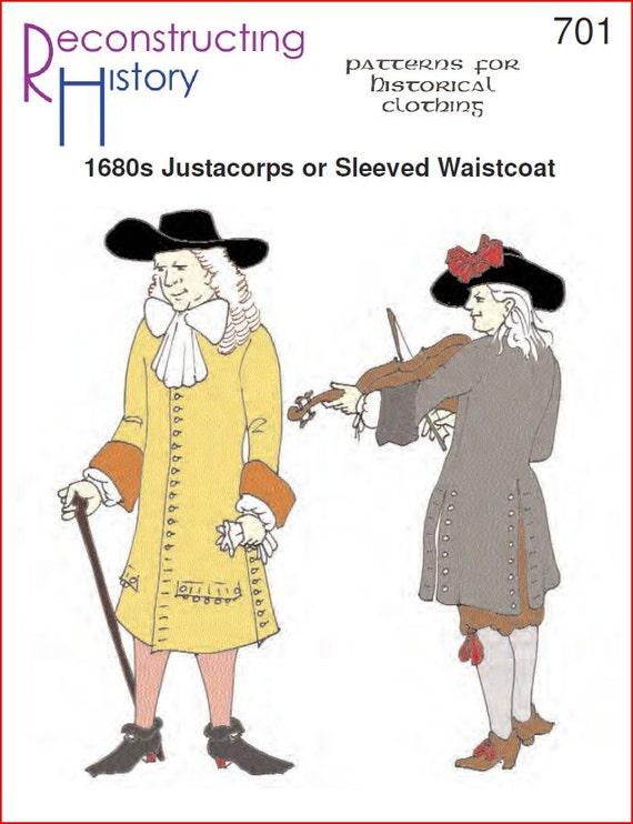 RC701 1680s casaca pirata Era o época Colonial patrón de | Etsy