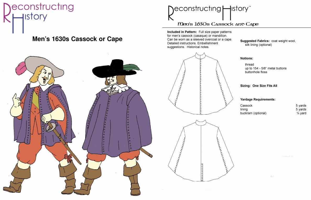 RC107 sotana y patrón de costura de cabo por reconstruir la | Etsy