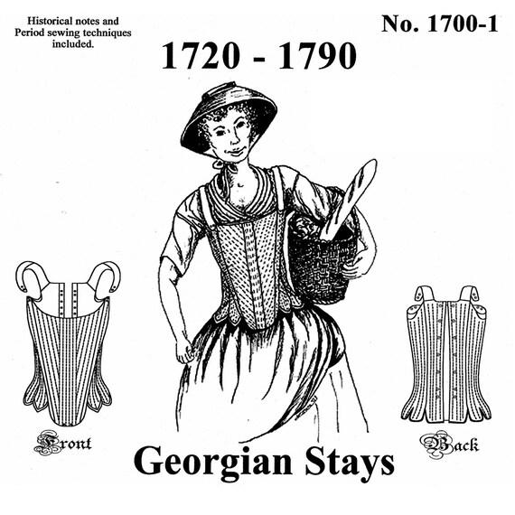 MM17001 bleibt 1720-1790 Nähen Muster von Mantua Maker
