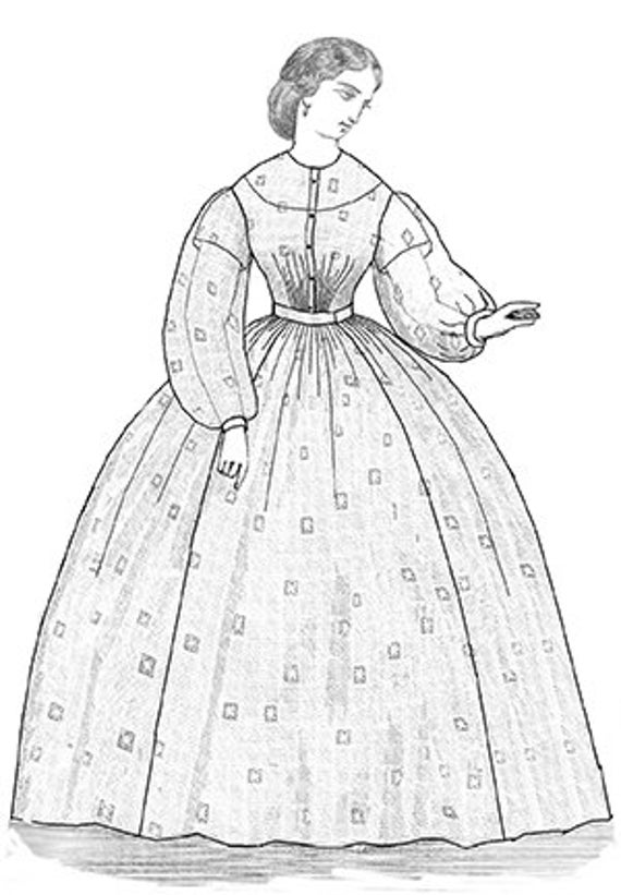 TV447 1863 Sheer Dress Sewing Pattern by Truly Victorian | Etsy