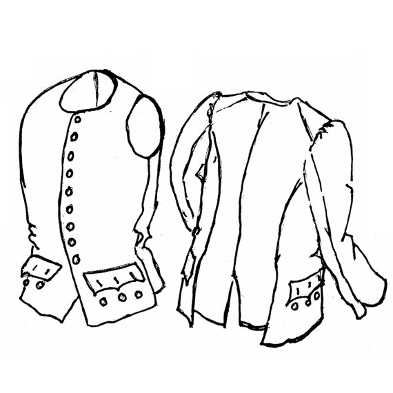 sf202 18th century sleeved waistcoat vest sewing pattern by etsy Colonial Wig Pattern sf202 18th century sleeved waistcoat vest sewing pattern by smoke fire