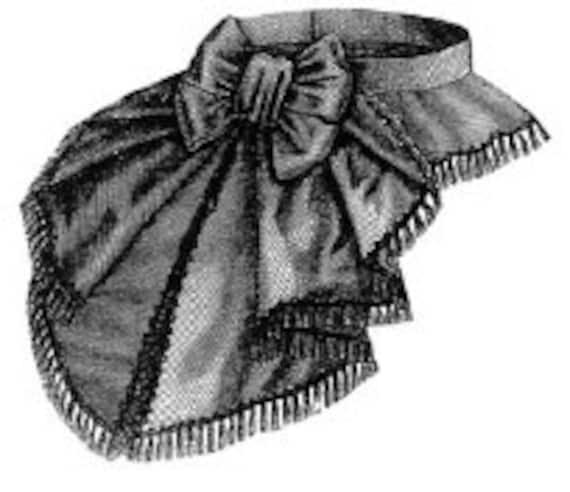 AG1466 1870 lila Cashmere baskischer Gürtel Schnittmuster