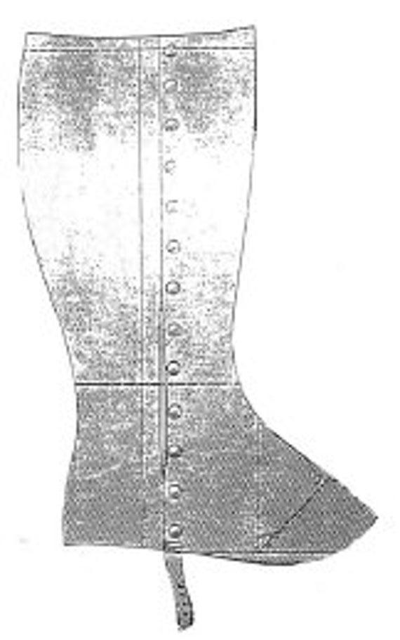AG1519 1897 señoras polainas patrón por eternos patrones de | Etsy