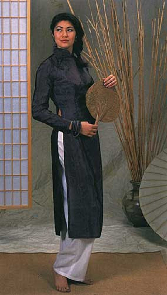 Free UK P/&P ... Folkwear Patterns Ladies Sewing Pattern Vietnamese Ao Dai