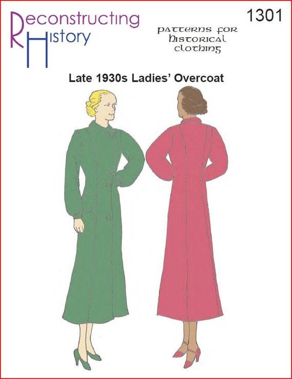RC1301 1930er Jahre Damen Mantel Schnittmuster von | Etsy