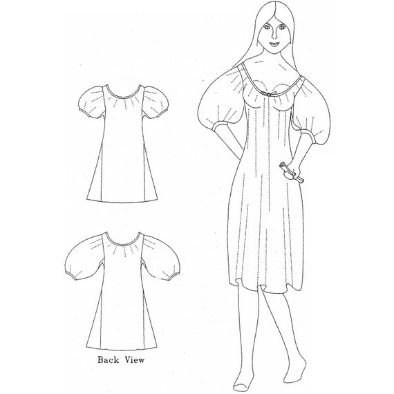 Mm18001 1600 1840 Chemise Sewing Pattern By Mantua Maker Etsy
