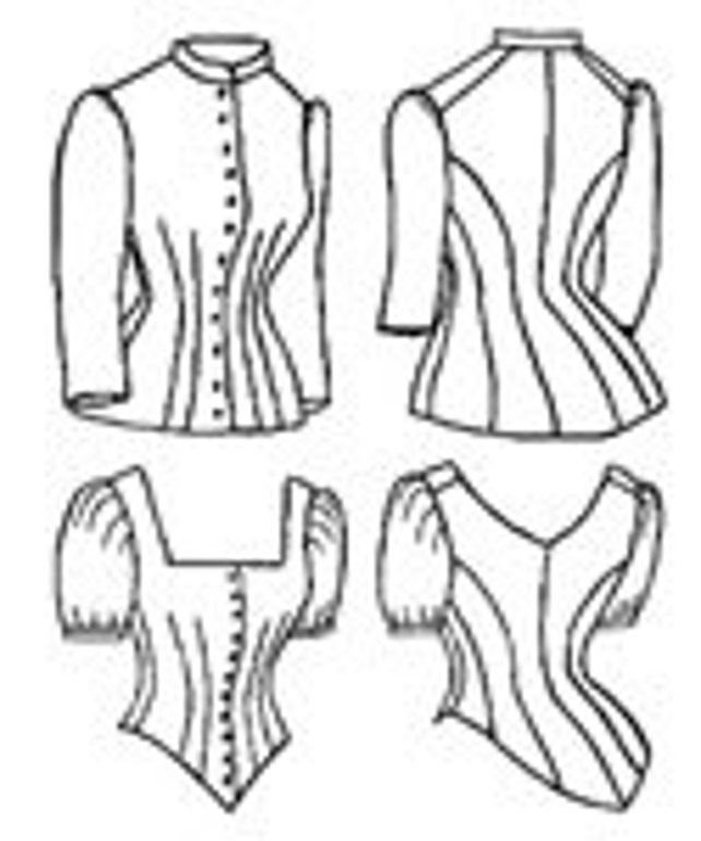 Tv460 1885 Cuirass Bodice Sewing Pattern By Truly Victorian Etsy